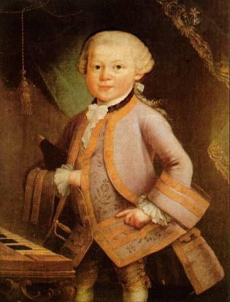 Mozart als 7 anys: probably by Pietro Antonio Lorenzoni, Salzburg, 1763